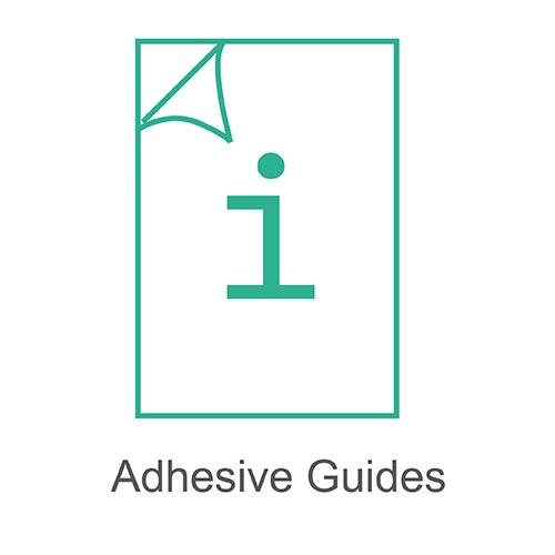 Adhesive guides
