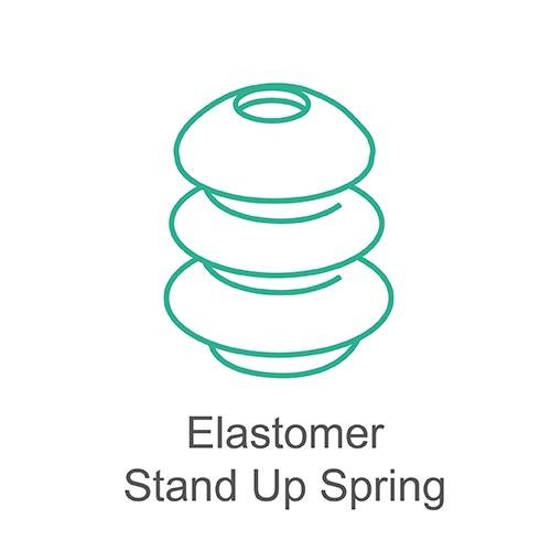 Elastomer stand up spring