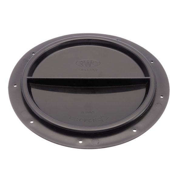 R2032 - Cover Halfturn Black 15Cms (Pk Size: 1)