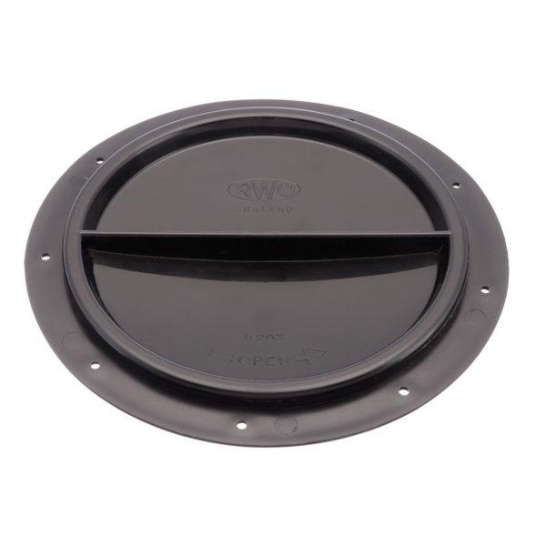 R2032 - Cover Halfturn Black 15Cms (Pk Size: 1)