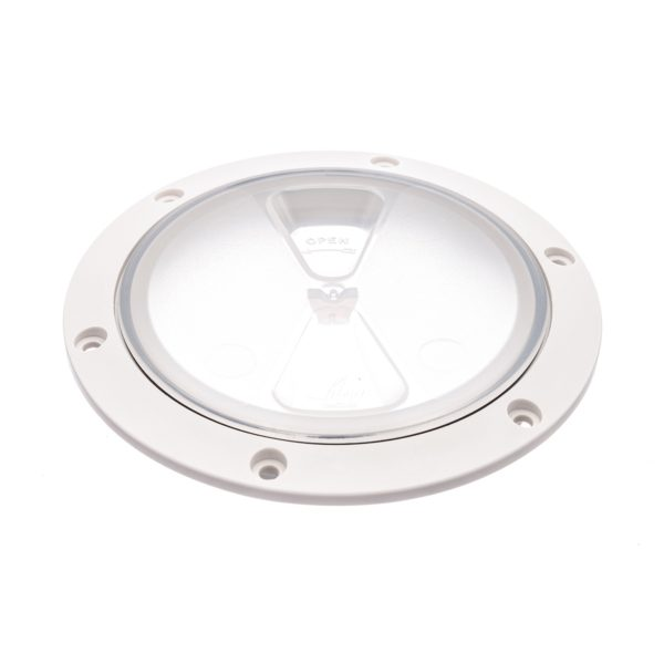 R4043L - Screw Insp Cover 100mm  (Clear/White) (Pk Size: 1)
