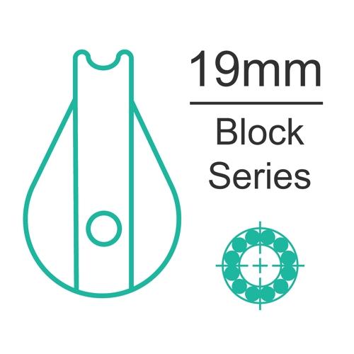 19mm ball bearing block range