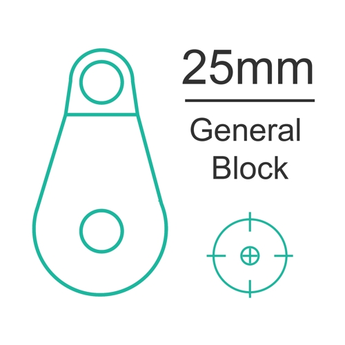 25mm General block with nylon sheave