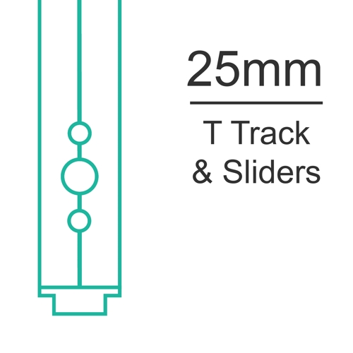 25mm T track and sliders
