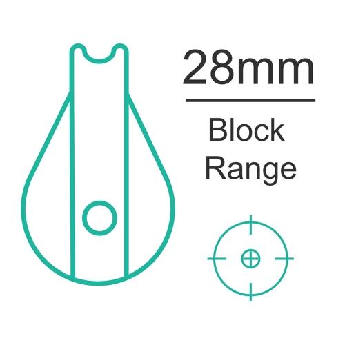 28mm plain bearing block