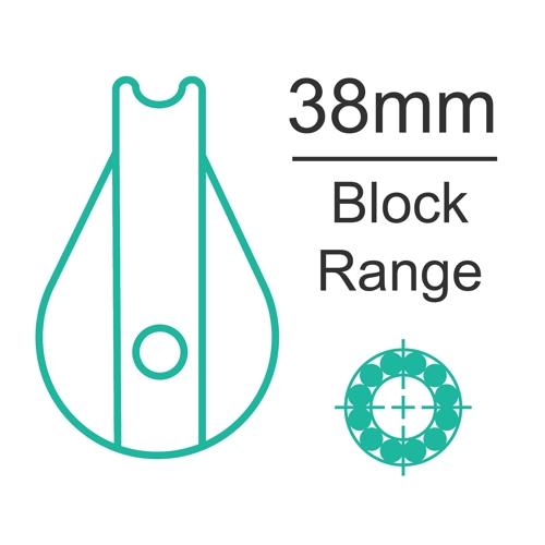 38mm ball bearing block range