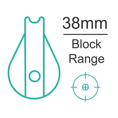 38mm plain bearing block