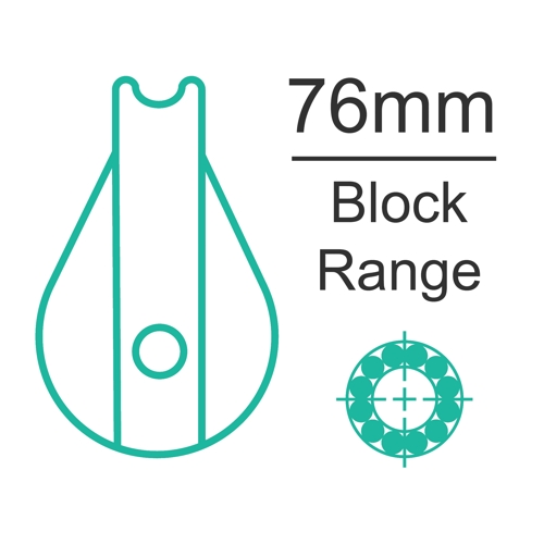 76mm ball bearing block range