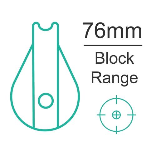76mm plain bearing block